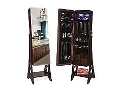 SONGMICS Beveled Jewelry Cabinet