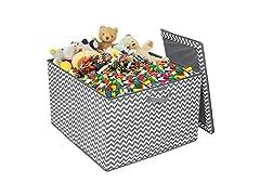 Storage Fabric Toy Bin - Grey Pattern