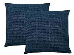 PHF Waffle Euro Sham Throw Pillow Cover