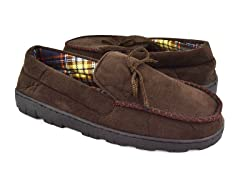 Polysuede Moccasin Flannel Lining, Brown