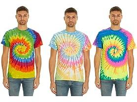 Krazy Tees Tie Dye T-Shirts 3-PK