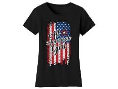 Womens All American Girl with USA Flag