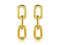 18K Gold Plated Chained Earrings