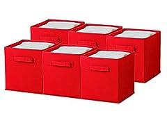 Sorbus Foldable Storage Cube Bin, 6pk