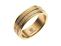 14k Gold Plated Sandblasted Box Ring