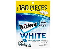 Trident White Sugar Free Gum, Peppermint
