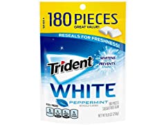 Trident White Sugar Free Gum, Peppermint