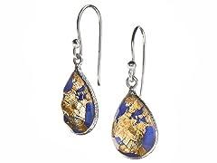 24kt Gold Flake Doublet Earrings