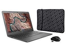 "HP 14"" Full-HD 32GB Chromebook Bundle"