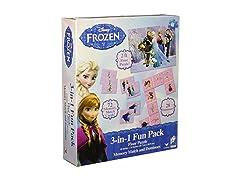 Disney Frozen 3 in 1 Activity Game Box