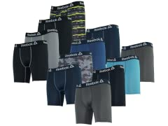 Reebok Men's Core Performance Boxer Briefs 4-Pack