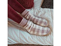 MUK LUKS Chenille Short Slipper Socks