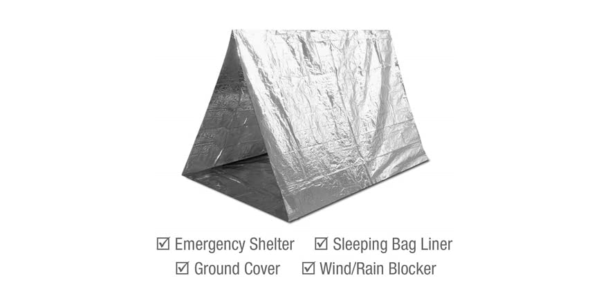 Swiss Safe Emergency Mylar Thermal Blankets 4 Pack Bonus