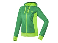 Fila Women's Performance Hoody,Green(XS)