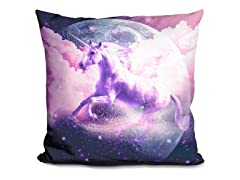 Flying Space Galaxy Unicorn Pillow