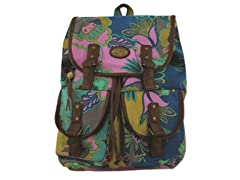 Karma Marrakech Damask Rucksack, Blue