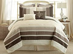 8-Pc Rue de Temple Pleated Comforter Set