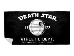 """Sci-Fitness - Death Star"" Beach Towel"