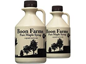2 Pack Boon Farms Grade A 100% Pure Maple Syrup