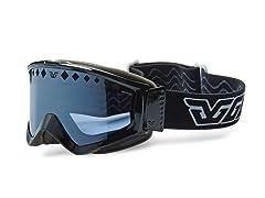 Gordini Paris Black Goggles - Blue Mirror