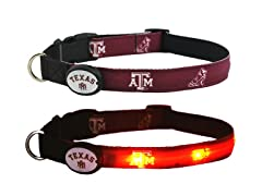 Texas A&M University LED Collar - Med