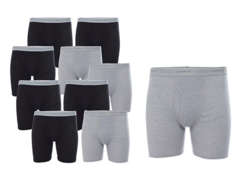Hanes10-Pack Mens Boxer Briefs
