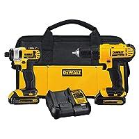 DeWALT DCK240C2 Drill/Driver + Impact Driver w/2 Batteries + Circular Saw Deals