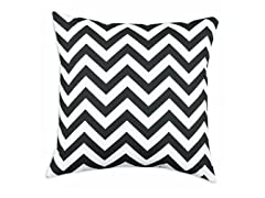 Zig Zag Black 17X17 Pillow