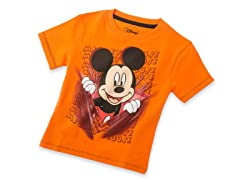 Mickey Mouse Tee - Orange (2T-4T)