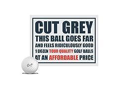 Cut Golf Cut Grey Golf Balls
