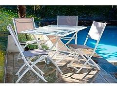 Miami 5-Piece Folding Dining Set