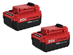 20V MAX 4.0Ah Li-Ion Battery (2-Pack)