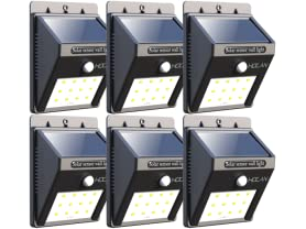 6-PK Iextreme Waterproof 12LED Solar Motion Lights