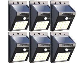 6-PK Iextreme Waterproof 12LED Solar Motion Lights
