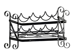 "12""x21"" Small Wine Rack - Black"