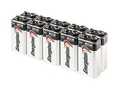 Energizer Max 9V Alkaline - 10 9V