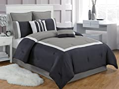 Contempo 8Pc Comforter Set-2 Sizes