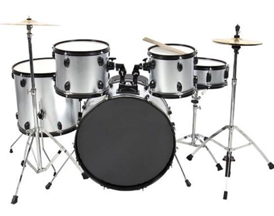 complete adult drum set 5 pc 2 colors. Black Bedroom Furniture Sets. Home Design Ideas