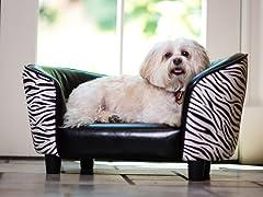 Snuggle Pet Sofa Bed - Zebra