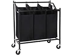 SONGMICS 3-Bag Rolling Laundry Sorter Cart