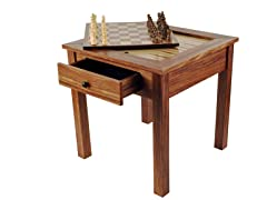 3-in-1 Chess/Checkers/Backgammon Table