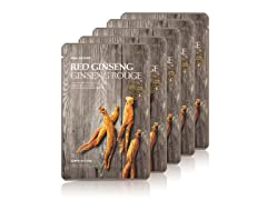 Real Nature Red Ginseng Face Mask 5Pack