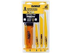 DeWalt 8-Piece Reciprocating Saw Blade Kit