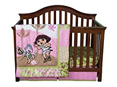Nickelodeon Dora The Explorer Crib Bedding Set 5-Piece