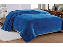 Noble House Popcorn Textured Microplush Blanket