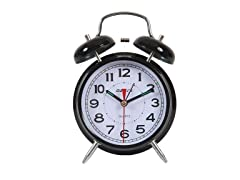 "Maple's Clock 4"" Double Bell Alarm Clock"