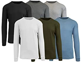 GBH Men's Long Sleeve Thermals Tees 6-Pk