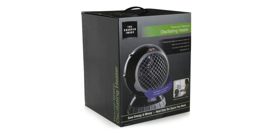 Sharper Image Desk Fan With Heater