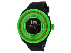 Ten Beats 3H Black/Green Watch