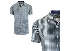 Men's Short Sleeve Gingham Dress Shirt